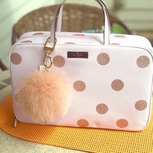 Light pink Kate Spade makeup bag